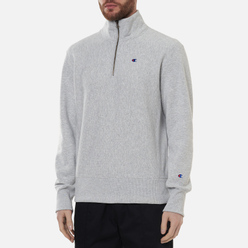 Мужская толстовка Champion Reverse Weave Half Zip-Up Light Grey