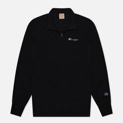 Мужская толстовка Champion Reverse Weave Half Zip-Up Script Logo Track Black