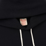 Мужская толстовка Champion Reverse Weave Hooded Big Script Logo Black фото- 1
