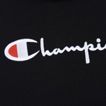 Мужская толстовка Champion Reverse Weave Hooded Big Script Logo Black фото- 2