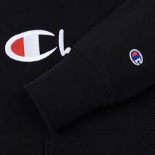 Мужская толстовка Champion Reverse Weave Hooded Big Script Logo Black фото- 3