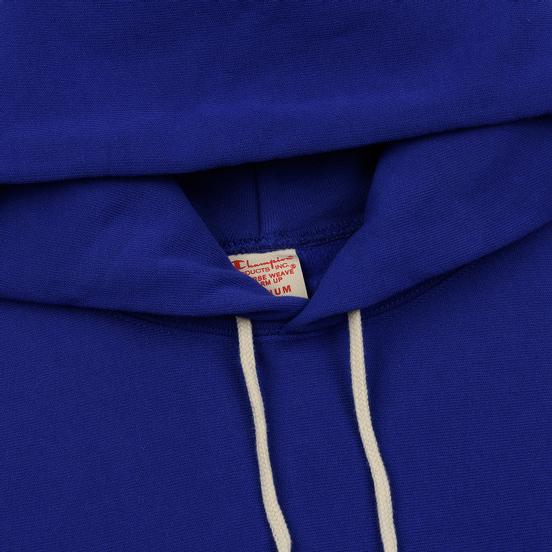 Мужская толстовка Champion Reverse Weave Hooded Big Script Logo Clematis Blue