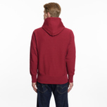 Мужская толстовка Champion Reverse Weave Hooded Big Script Logo Burgundy фото- 6