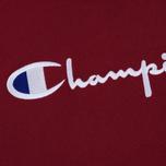 Мужская толстовка Champion Reverse Weave Hooded Big Script Logo Burgundy фото- 2