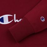 Мужская толстовка Champion Reverse Weave Hooded Big Script Logo Burgundy фото- 3