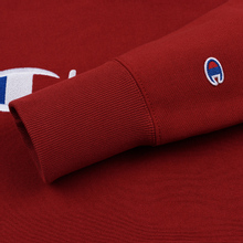 Мужская толстовка Champion Reverse Weave Hooded Big Script Logo Dark Red фото- 2