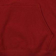 Мужская толстовка Champion Reverse Weave Hooded Big Script Logo Dark Red фото- 4