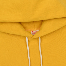 Мужская толстовка Champion Reverse Weave Hooded Big Script Logo Golden Rod фото- 1