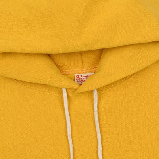 Мужская толстовка Champion Reverse Weave Hooded Big Script Logo Golden Rod