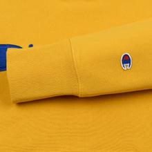 Мужская толстовка Champion Reverse Weave Hooded Big Script Logo Golden Rod фото- 4