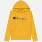 Мужская толстовка Champion Reverse Weave Hooded Big Script Logo Golden Rod фото - 0