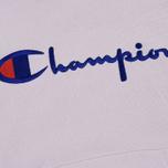 Мужская толстовка Champion Reverse Weave Hooded Big Script Logo Lavender фото- 2
