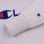 Мужская толстовка Champion Reverse Weave Hooded Big Script Logo Lavender фото- 3