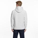 Мужская толстовка Champion Reverse Weave Hooded Big Script Logo Light Grey фото- 6