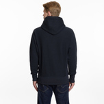 Мужская толстовка Champion Reverse Weave Hooded Big Script Logo Navy фото- 1