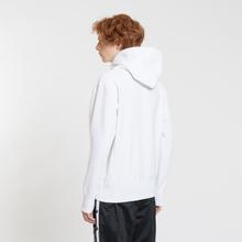 Мужская толстовка Champion Reverse Weave Hooded Big Script Logo White фото- 3