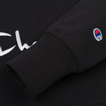 Мужская толстовка Champion Reverse Weave Hooded Black фото- 3