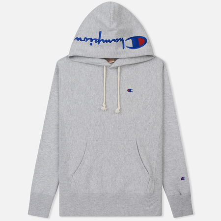 Мужская толстовка Champion Reverse Weave Hooded Brushed Fleece Light Grey