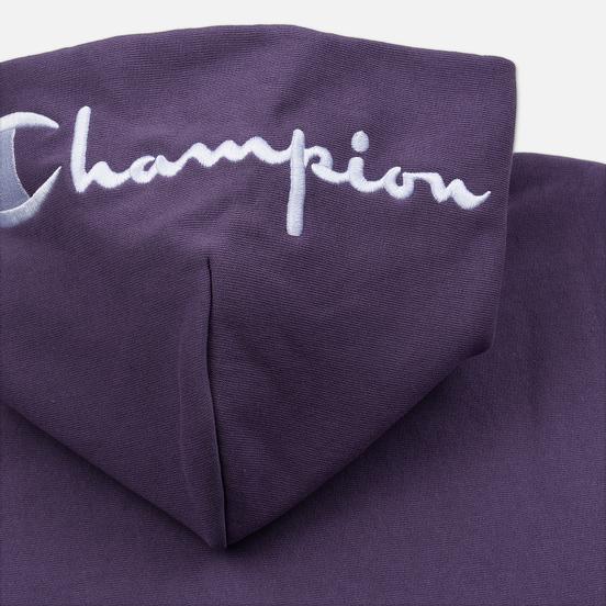 Мужская толстовка Champion Reverse Weave Hooded Brushed Fleece Mulled Grape
