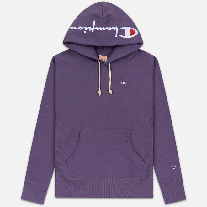 Мужская толстовка Champion Reverse Weave Hooded Brushed Fleece Mulled Grape