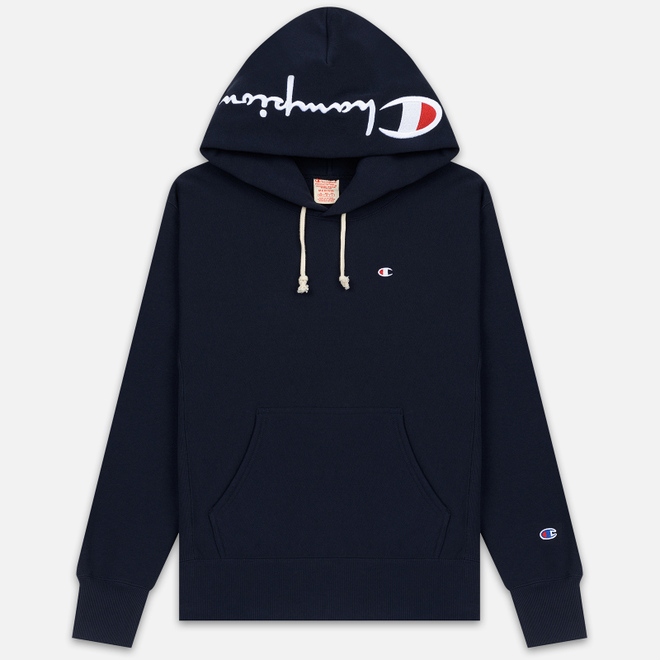 Мужская толстовка Champion Reverse Weave Hooded Brushed Fleece Sky Capitan