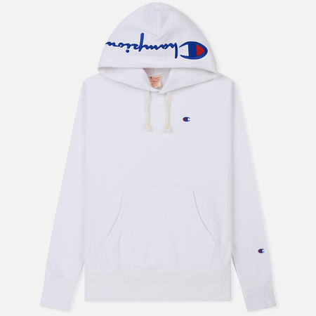 Мужская толстовка Champion Reverse Weave Hooded Brushed Fleece White