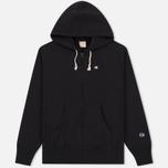 Мужская толстовка Champion Reverse Weave Hooded Full Zip Black фото- 0