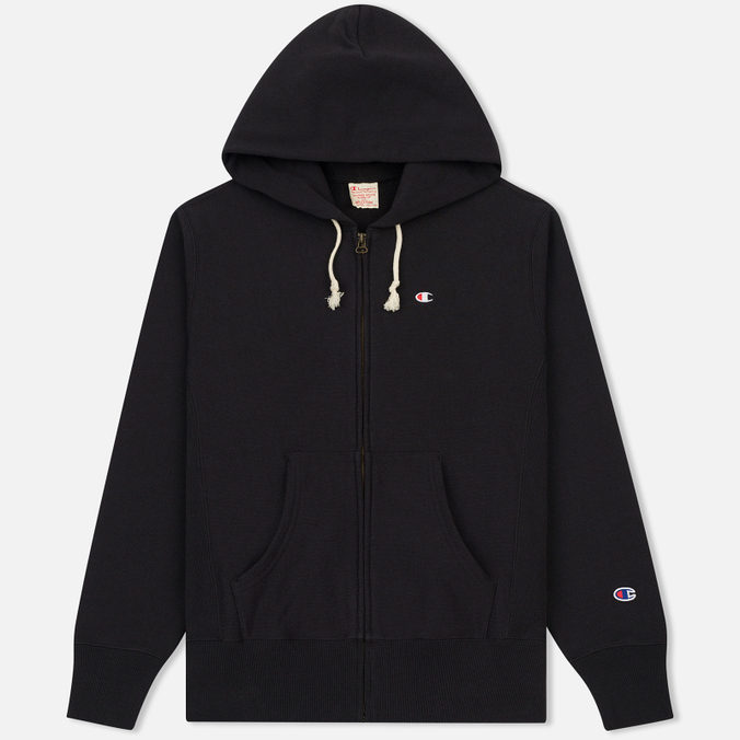 Мужская толстовка Champion Reverse Weave Hooded Full Zip Black