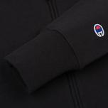 Мужская толстовка Champion Reverse Weave Hooded Full Zip Black фото- 3