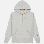 Мужская толстовка Champion Reverse Weave Hooded Full Zip Grey фото- 0