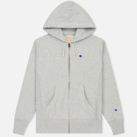 Мужская толстовка Champion Reverse Weave Hooded Full Zip Grey