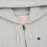 Мужская толстовка Champion Reverse Weave Hooded Full Zip Grey фото- 1