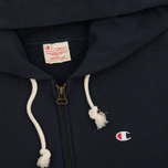 Мужская толстовка Champion Reverse Weave Hooded Full Zip Navy фото- 1