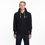 Мужская толстовка Champion Reverse Weave Hooded Full Zip Small Script Logo Black фото- 5