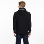 Мужская толстовка Champion Reverse Weave Hooded Full Zip Small Script Logo Black фото- 6