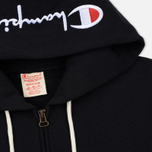Мужская толстовка Champion Reverse Weave Hooded Full Zip Small Script Logo Black фото- 1