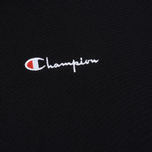 Мужская толстовка Champion Reverse Weave Hooded Full Zip Small Script Logo Black фото- 2