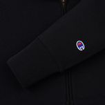 Мужская толстовка Champion Reverse Weave Hooded Full Zip Small Script Logo Black фото- 3