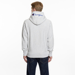 2a225af9 Мужская толстовка Champion Reverse Weave Hooded Full Zip Small Script Logo  Light Grey фото- 6