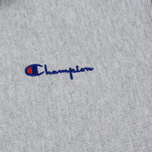 Мужская толстовка Champion Reverse Weave Hooded Full Zip Small Script Logo Light Grey фото- 2