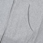 Мужская толстовка Champion Reverse Weave Hooded Full Zip Small Script Logo Light Grey фото- 4