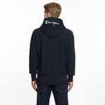 Мужская толстовка Champion Reverse Weave Hooded Full Zip Small Script Logo Navy фото- 6