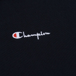 Мужская толстовка Champion Reverse Weave Hooded Full Zip Small Script Logo Navy фото- 2
