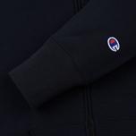 Мужская толстовка Champion Reverse Weave Hooded Full Zip Small Script Logo Navy фото- 3
