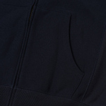 Мужская толстовка Champion Reverse Weave Hooded Full Zip Small Script Logo Navy фото- 4