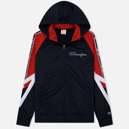 Мужская куртка ветровка Champion Reverse Weave Hooded Full Zip Top Sport Icon Navy