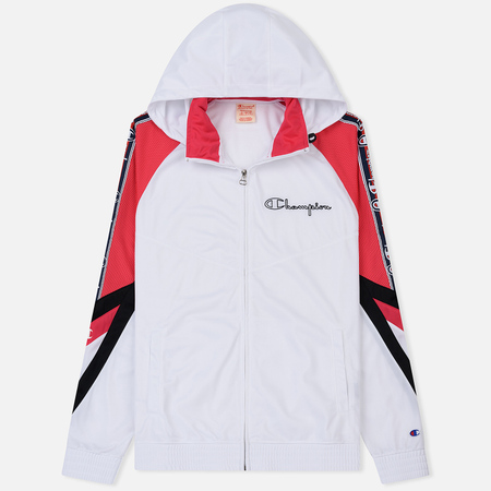 Мужская куртка ветровка Champion Reverse Weave Hooded Full Zip Top Sport Icon White