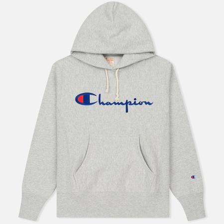 Мужская толстовка Champion Reverse Weave Hooded Grey
