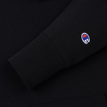 Мужская толстовка Champion Reverse Weave Hooded Logo Patch To The Chest And Sleeve Black фото- 3
