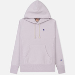 Мужская толстовка Champion Reverse Weave Hooded Logo Patch To The Chest And Sleeve Lavender фото- 0